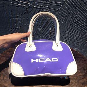 Vintage HEAD brand purple sporty bowling bag